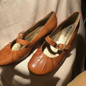 Tamaris leather Mary Jane leather heels, 7.5